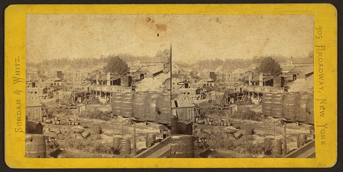 1870s oil refinery in Erie, PA. Credit: Library of Congress
