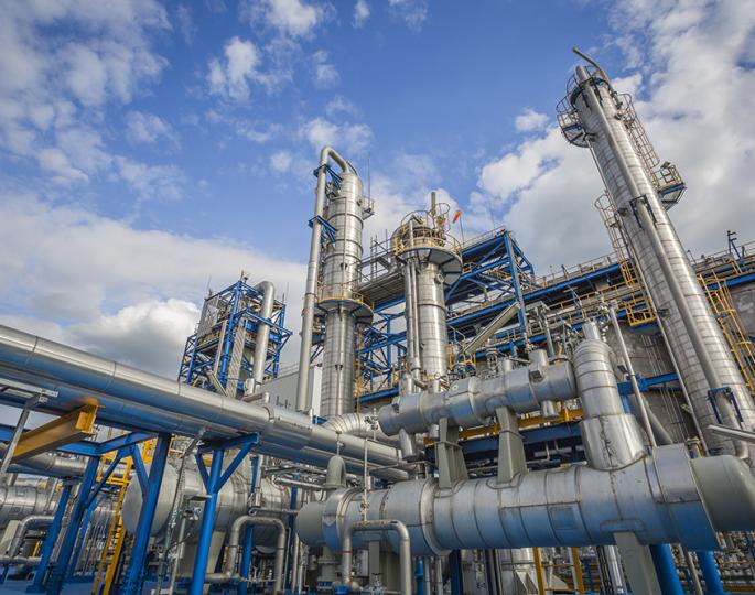 How a petrochemical is produced