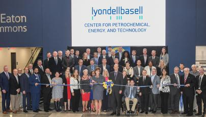 ribon-cutting ceremony at lyondell basell