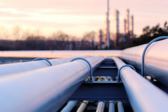 pipelines extend towards oil refinery